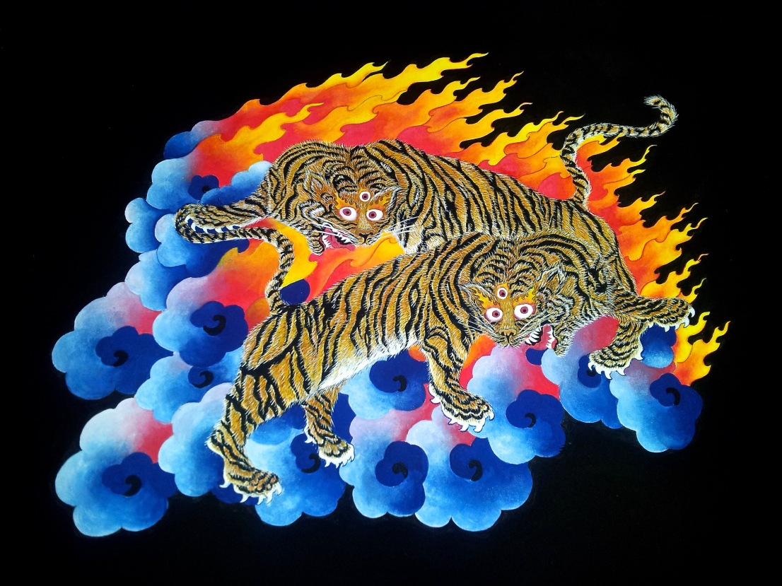 Playful Tigers 48cm x 42cm €250,00