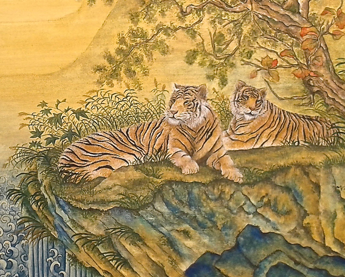 Lounging Tigers 2 - detail